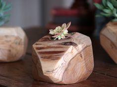Wooden Succulent Planter - Rustic Plant Holder - Cactus Pot on Etsy, $41.88