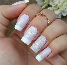 -unhas de fibra -unhas fashion -unhas lindas -unhas com detalhes -unhas curtas -unhas cumpridas -unhas bonitas Prom Nails, Fun Nails, Pretty Nails, Matte Nails, Acrylic Nails, Nail Art Vernis, Nail Designer, Wedding Nails Design, Wedding Designs