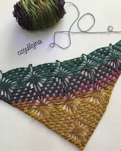 Best 8 16 colored crochet shawl-wool, techniques and graphics-Sona Kapitanova – BuyThenNow – SkillOfKing.Com Easy Scarf Knitting Patterns, Crochet Scarf Easy, Crochet Shawls And Wraps, Crochet Poncho, Crochet Scarves, Crochet Clothes, Crochet Lace, Crochet Stitches, Crochet Patterns