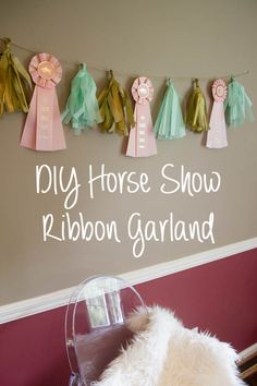 4 Easy Steps For Developing A Sunroom Gallery For Best In Show Ribbon Horse Horse Ribbon Display, Show Ribbon Display, Horse Show Ribbons, Horse Party, Cowgirl Party, Big Girl Bedrooms, Little Girl Rooms, Ribbon Garland, Horse Birthday
