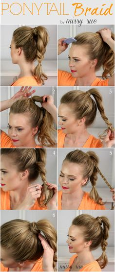 Easy Ponytail Hairstyles on Pinterest | Permed Medium Hair, Cute Easy