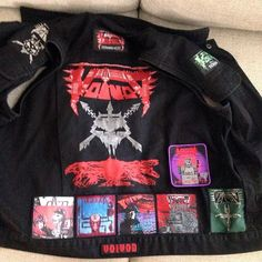 Voivod tribute by Tobi from Germany #battlejacket #metalpatches #metaljacket #kutte #bandpatch #bandpatches #battlevest #heavymetal #thrashmetal #denimjacket #patchedvest #deathmetal #metalpatches #metal #wovenpatch #voivod #dimensionhatross #dimensionhatröss