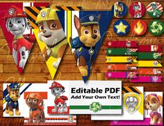 100 pages Printable Paw Patrol Birthday Party by GuilianaAndMiguel