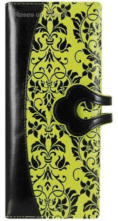 GRANDOISE GREEN ORGANIZER VEGAN WALLET NWT BY ESPE W/GIFT BOX #ESPE #BifoldWallet