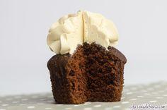 """Devil's Food Cupcakes & Moka Frosting Nome d'arte: """"Diavoletti tentatori!!"""" Ritrova la ricetta qui:http://www.colazionedafrenca.com/ricette/devils-food-cupcakes-moka-frosting/"""