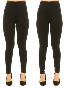 Just One Women's Seamless Ankle Length Fleece Lined Leggings >>> Want additional info? Click on the image.