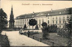 Ansichtskarte / Postkarte Greifswald in Mecklenburg Vorpommern, Universität u. Rabena...   akpool.de