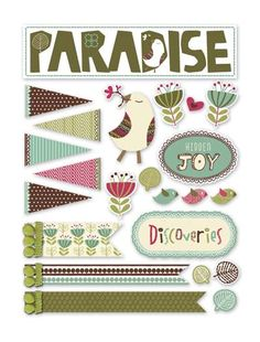 Deja Views - C-Thru - Little Yellow Bicycle - Paradise Collection - Fabric Stickers - Favorites at Scrapbook.com $4.99
