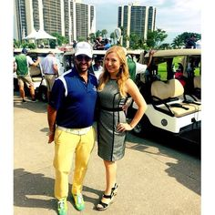 d982fd4bf6ff4 Mariana Shulga and Marcos Fasja at the Dolphins Cancer Challenge Celebrity  Golf Tournament.  TurnberryIsle