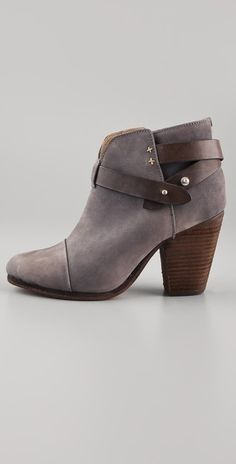 Rag & Bone Harrow Booties in Gray (grey) - Lyst