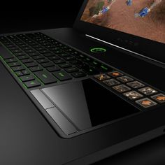 Razer Blade 17. LCD panel trackpad and icon overlays. Outrageous