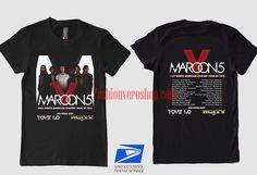 Maroon 5 2016 North American Tour T shirt Band