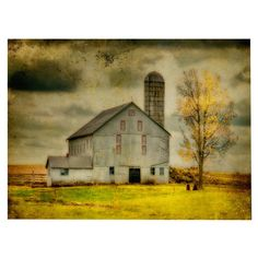 Old Barn on Stormy Afternoon Canvas Art.