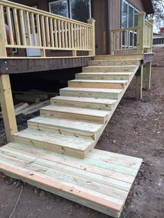 For the deck railing we put a 6 2x4 footer attached to for 6 inch wide decking boards