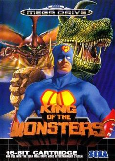 King of Monsters - Genesis Game Sega Video Games, Video Game Art, Games Box, Old Games, Monster Usa, Video King, Pc Engine, 8 Bits, Sega Mega Drive