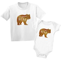 Shop our Brother Bear Baby Bear Sibling T-Shirts, made with soft premium cotton, for kids and babies from newborn to 7 years. Browse this and other matching sibling t-shirts for big brothers and sisters, little brothers and sisters. Sibling Gifts, Older Siblings, Little Brothers, Brother Bear, Toddler Gifts, Family Shirts, New Baby Gifts, Baby Outfits, Future Baby