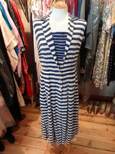 1930s Cotton Sailor Dress  Genuine by PepperLaneExclusives on Etsy, $190.00
