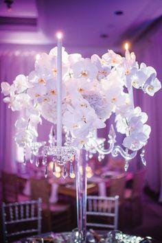 Wedding reception centerpiece idea; Featured Photographer: Eli Turner Studios