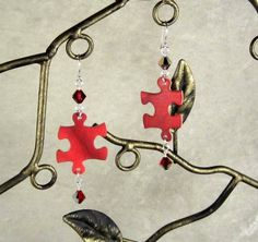 Puzzle Piece Earrings by GeekGirlChic for $15.00