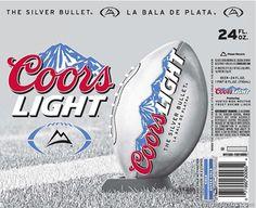 Coors Light & Coors Banquet Football Editions Silver Bullet, Coors Light, Football, Beer Labels, Entertaining, Banquet, Bottles, Guys, Board