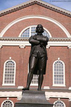 Massachuettes-  Samuel Adams   statue in front of Faneiul Hall