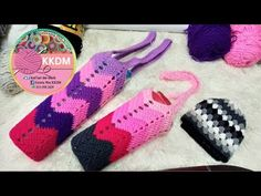 Crochet sarong botol air by WANKKDM - YouTube Jewelry Patterns, Fingerless Gloves, Arm Warmers, Bottle, Youtube, Wings, Cases, Fingerless Mitts, Flask