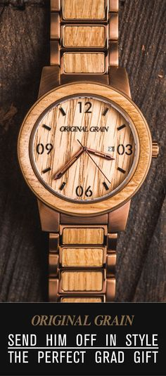 Looking for the perfect gift for your Grad? Our wood & steel watches are one of a kind and made with some of the world's finest exotic hardwood. Get him something truly original to send him off in style - Free shipping worldwide!