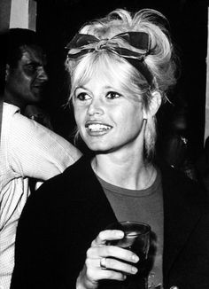 Miss Bardot... with an boufant updo and bow headband
