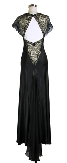 Look how fabulous the Jane Woolrich Fishtail Nightgown is from the back! #lingerie