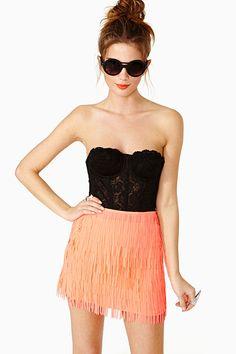 Flash Fringe Skirt