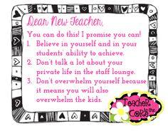 Dear New Teacher... Super touching linky party!