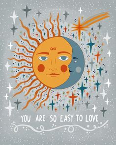You are so easy to love Mini Art Print by asjaboros You are so easy to love Mini Art Print by Asja Boros - Without Stand - x Pretty Words, Beautiful Words, Wal Art, Easy To Love, Hippie Art, Illustrations, Happy Thoughts, Satire, Wall Collage