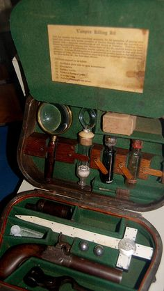 Vampire Killing Kit by Curious Expeditions Werewolf Hunter, Vampire Hunter, Real Life Vampires, Zombies, Steampunk Furniture, The Devil's Advocate, Wood Chest, Le Far West, Monster Hunter