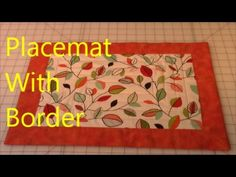 Placemat With Border