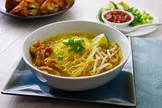 "Javanese Inspired ""Chicken"" Noodle Soup w/ Soy Curls"