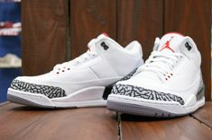 Air Jordan III Basketball Sneakers 2018 Retro 88 Asia Release Info White  Fire Red Cement Grey Black 580775 160 8ca1f0f16