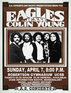 The Eagles 1975 Cleveland Concert Poster by ClevelandRockAndRoll, *Seriously cool! Description from pinterest.com. I searched for this on bing.com/images