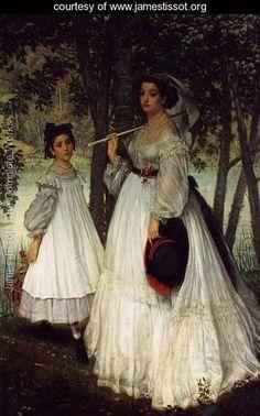 The Two Sisters; Portrait - James Jacques Joseph Tissot - www.jamestissot.org