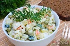 Receita de Maionese de iogurte e legumes em receitas de saladas, veja essa e outras receitas aqui!