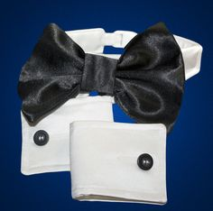 Designer Dog Collar  Bow Tie and Cuffs Formal by tinypawscouture, $39.95