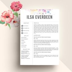 Hello, thanks for check out this item! Profesional Resume Template for Word Instant Download CV Template US Letter and A4 Templates included Mac & PC