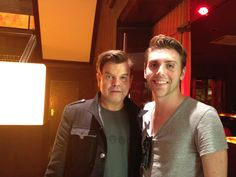 Michael S. and Paul Oakenfold hanging out after Summerfest 2012.
