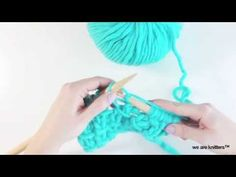 How to knit Bamboo stitch - Learn to knit