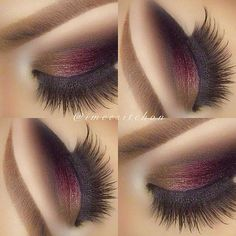 Cute eye make up Gorgeous Makeup, Love Makeup, Makeup Inspo, Makeup Inspiration, Red Makeup, Glamorous Makeup, Makeup Goals, Makeup Tips, Beauty Makeup