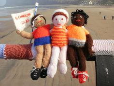 Olympics 2012: This in intriguing yarn-bomb replicates Olympic sport in a 50ft-long piece in knitting.