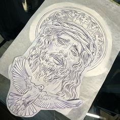 Half Sleeve Tattoos Drawings, Forearm Sleeve Tattoos, Tattoo Design Drawings, Tattoo Sleeve Designs, Tattoo Designs Men, Jesus Tattoo Sleeve, Religious Tattoo Sleeves, Religious Tattoos, Dope Tattoos