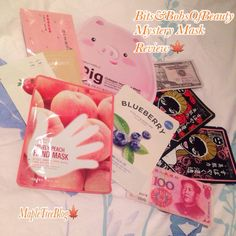 Maple Tree: [Unboxing] - BitsandBobs - Mystery Mask Bag February 2016 Review! #tonymoly #sheetmask #itsskin #skinfood