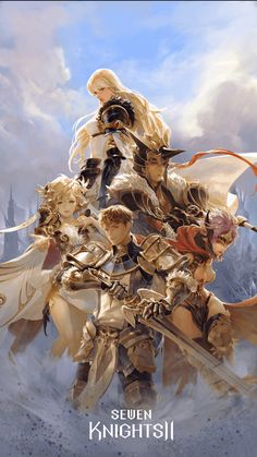 image Female Character Design, Character Concept, Character Art, Concept Art, Seven Knight, Knight Art, Cg Artwork, Action Poses, Traditional Paintings