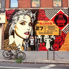 """25.1k Likes, 255 Comments - Shepard Fairey (@obeygiant) on Instagram: """"I finished my #Blondie mural across from the former #CBGB's on the Bowery and @christein and…"""""""