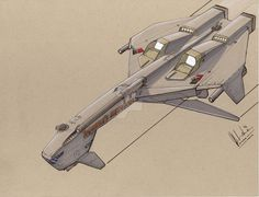 """Here is a unmolested scan of the """"Rourke's Revenge"""" nothing digitally tweaked, just pen, marker and color pencil. Spaceship Concept, Concept Ships, Concept Art, Space Travel, Space Crafts, Sci Fi Art, Revenge, Futuristic, Trek"""